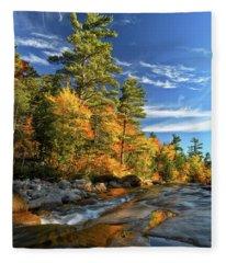 Golden Autumn Light Nh Fleece Blanket