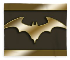 Golden Bat Fleece Blanket