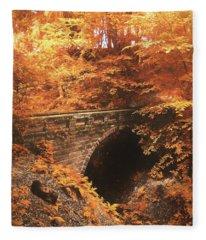 Golden Crossing Fleece Blanket