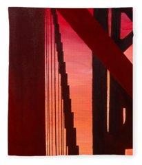 Golden Gate Art Deco Masterpiece Fleece Blanket