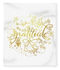 Golden Gratitude Fleece Blanket