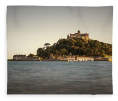 Golden Hour At St Michael's Mount Fleece Blanket