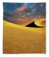 Golden Hour Death Valley Fleece Blanket