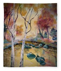 Golden Illumination Fleece Blanket