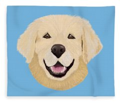Golden Lab Fleece Blanket