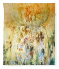 Golden Latte Stone Fleece Blanket
