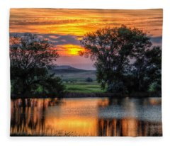 Golden Pond At 36x60 Fleece Blanket