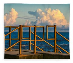 Golden Railings Fleece Blanket