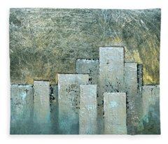 Golden Skyline II Fleece Blanket