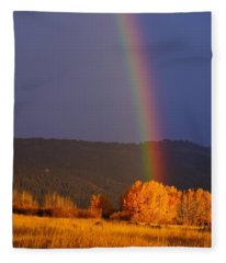 Golden Tree Rainbow Fleece Blanket