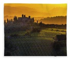 Golden Tuscany Fleece Blanket