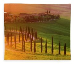 Golden Tuscany II Fleece Blanket