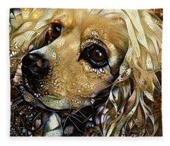 Goldie The Cocker Spaniel Fleece Blanket