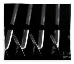 Fleece Blanket featuring the photograph Golf Clubs Blades Set by Mats Silvan