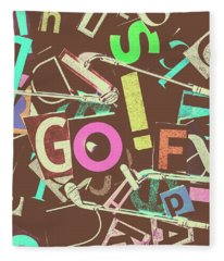 Golfing Print Press Fleece Blanket