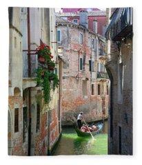 Gondolas Venice Fleece Blanket