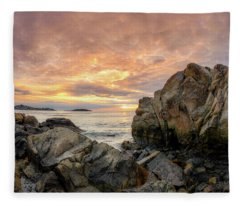 Good Harbor Rock View 1 Fleece Blanket