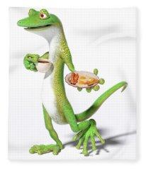 Good Morning Gecko Fleece Blanket