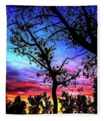 Good Night Leaves In Fall Fleece Blanket