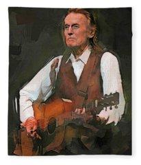 Gordon Lightfoot Fleece Blanket
