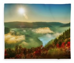 Gorge Sunrise Fleece Blanket