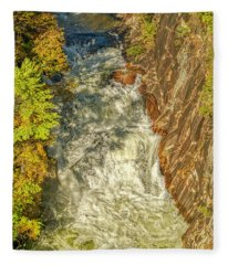 Gorge Waterfall Fleece Blanket