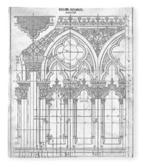 Gothic Arches Fleece Blanket