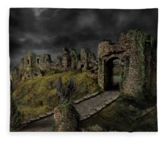 Gothic Ruins I Fleece Blanket