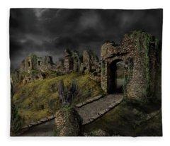 Gothic Ruins I Fleece Blanket