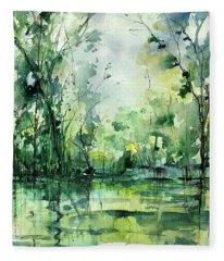 Grace On The Green River Fleece Blanket