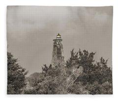 Graceful Evening Bald Head Island Lighthouse Fleece Blanket