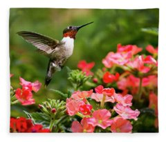 Graceful Garden Jewel Fleece Blanket