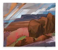 Grand Canyon North Rim Shower Fleece Blanket