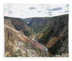 Grand Canyon Of The Yellowstone River Fleece Blanket