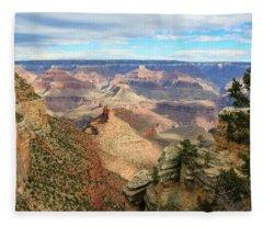 Grand Canyon View 3 Fleece Blanket