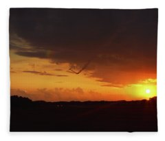 Grand Haven Airport Smoke Trail 2 Fleece Blanket