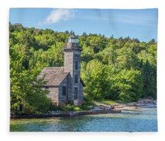 Grand Island East Channel Lighthouse, No. 2 Fleece Blanket
