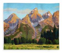 Grand Tetons Fleece Blanket