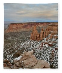 Grand View Point View At Sunset Fleece Blanket
