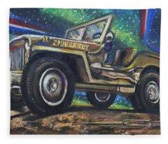 Grandpa Willie's Willys Jeep Fleece Blanket