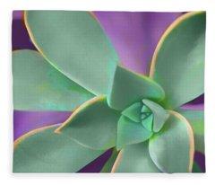 Graptopetalum Paraguayense - Square Fleece Blanket