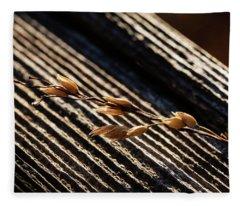 Grass And Seeds Fleece Blanket