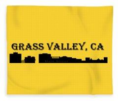 Grass Valley Skyline Fleece Blanket