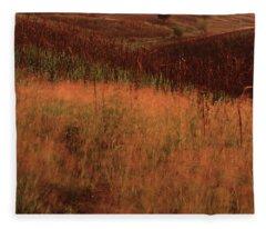 Grasses And Sugarcane, Trinidad Fleece Blanket