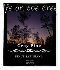 Gray Pine Fleece Blanket