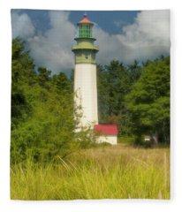 Grays Harbor Lighthouse, Washington, Usa Fleece Blanket
