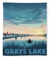 Grays Lake Fleece Blanket