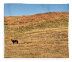 Grazing In The Grass Fleece Blanket