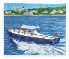 Great Ackpectations Nantucket Fleece Blanket