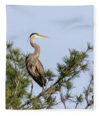 Great Blue Heron 2019-13 Fleece Blanket